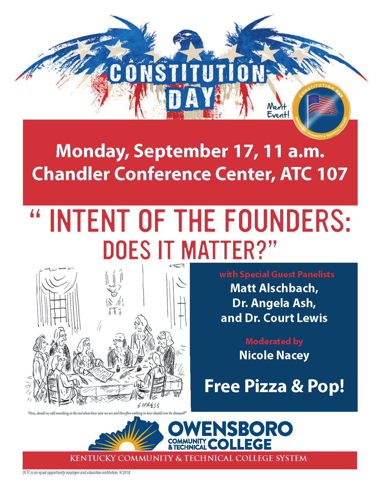 flyer promoting Constitution Day at OCTC