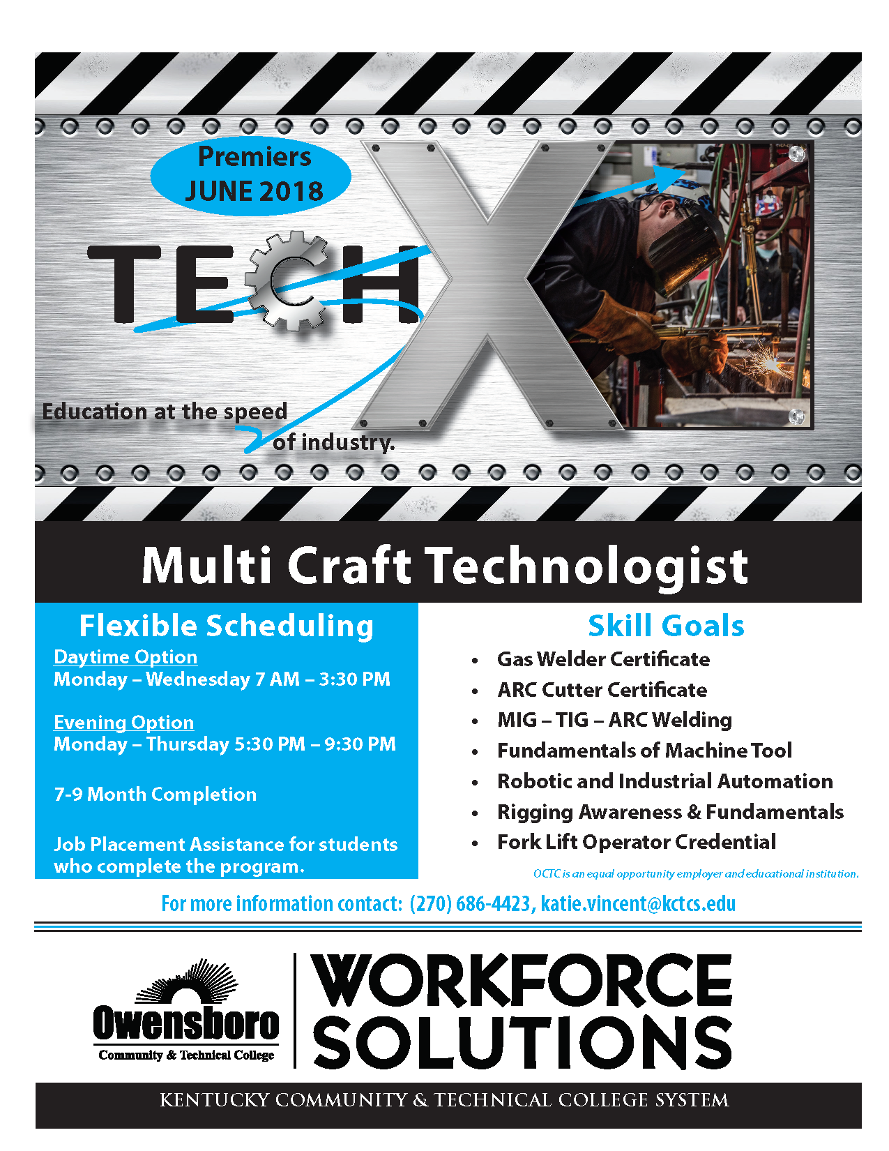 flyer promoting the Tech X program