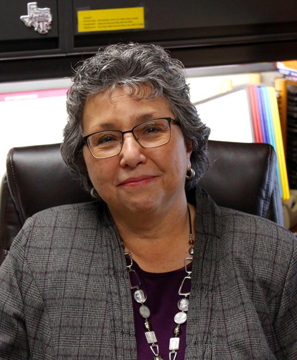 Photo of Theresa Schmitt, CIT Faculty at her desk