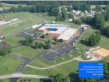 An overhead look of OCTC southeastern campus