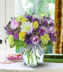 Purple Yellow and White Flower Bouquet